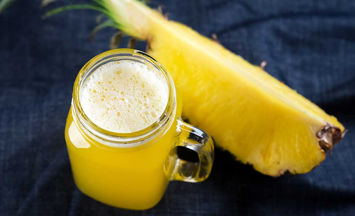 Bromelain acts as a digestive enzyme and can be found in Pineapple Juice
